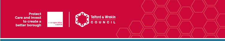 Telford and Wrekin Council Logo - Care, Protect and Invest